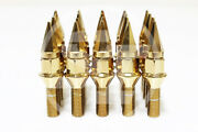 Z Racing 28mm Gold Spike Cone Seat Lug Bolts 14x1.5mm For Vw Golf Jetta Audi