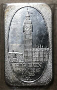 1974 Big Ben And039voice Of Londonand039 Ussc 1 Ounce .999 Silver Art Bar