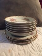 Lot Of 9 Vintage Mepoco Ware Japan/6 Dipping Bowls/3 Small Plates/high Gloss