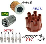 Tune Up Kit Oil Fuel Filters Wire Set Spark Plugs Fit Bmw Bavaria E3 1972-1974