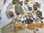 Civil War Lot Coins+currency+stamps+buttons-photos+political+militaria+csa++and25