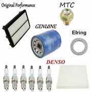 Tune Up Kit Oil Filter Air Cabin Plugs Oil Drain Fit Acura Zdx 2010-2013