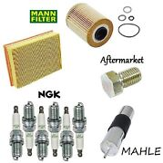 Tune-up Kit Oil Air Fuel Filters Drain Plug Spark Plugs Fit Bmw M3 E36 2001