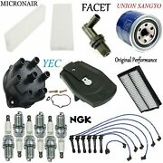 Tune Up Kit Filters Spark Plugs Wire Fit Honda Accord V6 3.0l 1998