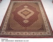 Hand-knotted Area Rug 8x11 Deep Red Mahi Plush Wool And Silk 96 X 129 In Rug