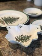 Spode- Christmas Tree Spode Dinner Plates Bowls Candy Dish