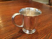 Antique Sterling Silver Footed Baby Cup Marked 7591
