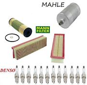 Tune Up Kit Air Mann Oil Fuel Filters And Spark Plugs Fit Mercedes-benz Sl600 1999