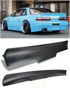 For 89-94 Nissan 240sx S13 2dr Bunny Style Add-on Rear Trunk Lid Wing Spoiler