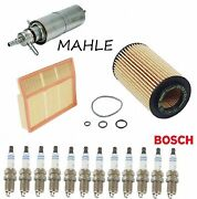 Tune Up Kit Air Fuel Oil Filter Spark Plug Fit Mercedes-benz Ml430 1999-2001