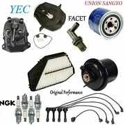 Tune Up Kit Filters Spark Plugs Wire Cap Fit Honda Odyssey 1995-1996