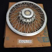 Nice Used Gm 86-89 Celebrity 14 Wire Wheel Accessory Cover Hubcap 10091785