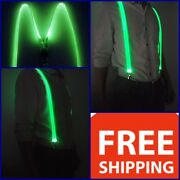 Led Light Up Glowing Suspenders Men Suit Costume Christmas New Year Party Gift