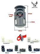 Variety Single Hole Spring Loaded Plastic Toggle Stopper Cord Lock 1pc To 500pcs