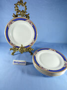 Vintage Wedgwood Astor Imperial Porcelain White Blue Trim Six Side Plates