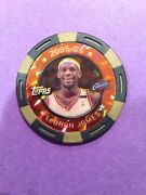 Lebron James 2005 Toppsandnbspgold Poker Chip And039d 1/1 Error Lakers One Of One