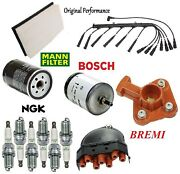 Tune Up Kit Spark Plug Wire Set Cap Rotor Filter Fit Bmw 325es 1986-1987