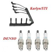 Karlyn And Denso Tune Up Kit Spark Plug Wire Set Fit Bmw 318i E36 1994-1998