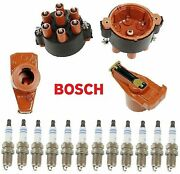 Tune Up Kit Distributor Cap Ignition Rotor Spark Plugs Fit Porsche 911 1989-1998