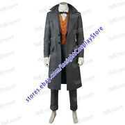 Fantastic Beasts And Where To Find Them Cosplay Costume Newt Scamander Full Set