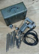 Vintage - Very Rare Syntron Type 10-ro Electric Hammer Drill W/ Syntron Bits.