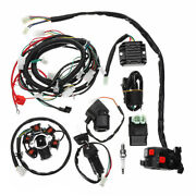 Full Electrics Wiring Harness Loom Cdi Coil For Gy6 150cc Atv Quad Go Kart Buggy