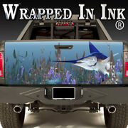 Tailgate Wrap Swordfish Tank In Your Truck Bed Vinyl Graphics For Truck
