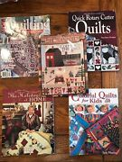 Lot Of 5 Quilting Books Rotary Cutter Quilts Kids Holiday Mumm Life In Country