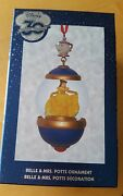 Disney Store 30th Anniversary Belle And Mrs.potts Snow Globe Sketchbook Ornament