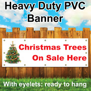 Pvc Banner Christmas Trees On Sale Here For Xmas Outdoor Sign Custom Printed