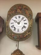 Antique French Morbier Clock Wag On Wall Circa 1870s To 1880s Not Running