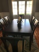 Raymour And Flanigan Dining Room Set Table 6 Chairs And Hutch. Great Condition