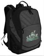 Michigan State Backpack Cool Msu Peace Frog Laptop Computer Bag Padded Section