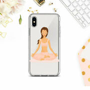 Iphone 6 6s Yoga Silicone Case Lotus Pose Clear Cover Iphone 7 8 Xs Xr 11 12 Se