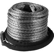 3/8 X 95and039 Synthetic Winch Line Cable Rope 20500lbs Hook+ Hawse Fairlead Atv Suv