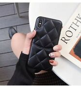 3d Grids Case For Iphone 12 Pro Max 11 Xs Xr Sheepskin Card Pocket Leather Cover