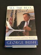 George H. W. Bush Us President All The Best Rare Signed Autograph Book Jsa