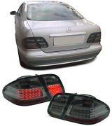 All Smoked Led Tail Lights Lamps Mercedes Clk W208 7/97-2003 Nice Christmas Gift