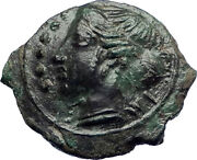 Himera Sicily 420bc Quality Ancient Greek Coin Nymph And Success Wreath I73990