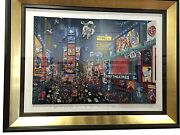Alexander Chen Times Square 3d Panoramic. Hand Signed