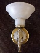 High End Cast Brass Heavy Wall Light - In High End Lighting Showroom 599 Obo