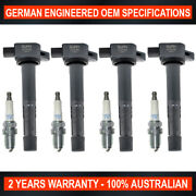 Set 4x Ngk Spark Plugs And 4x Swan Ignition Coils For Honda Odyssey Rb1 2.4l K24a6