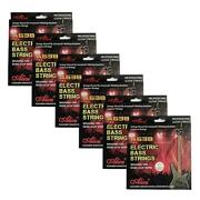 6sets Alice Electric Bass Strings Hexagonal Core Nickel Alloy Wound A6384-m