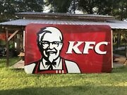 Large Kentucky Fried Chicken Kfc Colonel Sanders Advertising Sign 16andrsquox8andrsquo