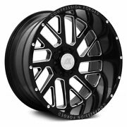 24x14 Axe 2.0 Compression Forged Black Wheels 6x5.5 6x135 Chevy Gmc -76 Ford