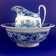 Early 19th C Sewell Wash Basin And Pitcher St.anthony's Pottery Newcastle On Tyne