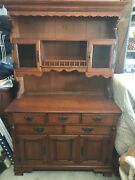 Buffet Hutch - Late 20th Century Tell City Young Republic Solid Hard Rock Maple