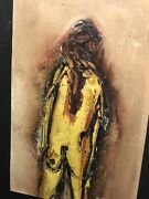 Ralph Rosenborg Abstract Expressionism Figure Study Signed Oil On Paper 1968 Nyc