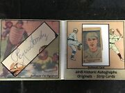 2018 Rogers Hornsby Historic Autographs Originals And Strips