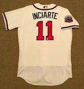 Ender Inciarte Mlb Holo Game Used Autographed Jersey Home Run 2017 Braves
